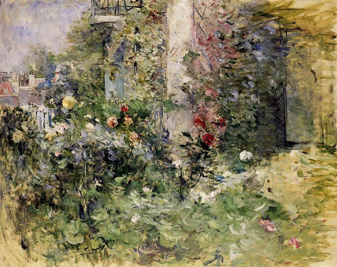 """""""Trädgården vid Bougival"""" av Berthe Morisot"""
