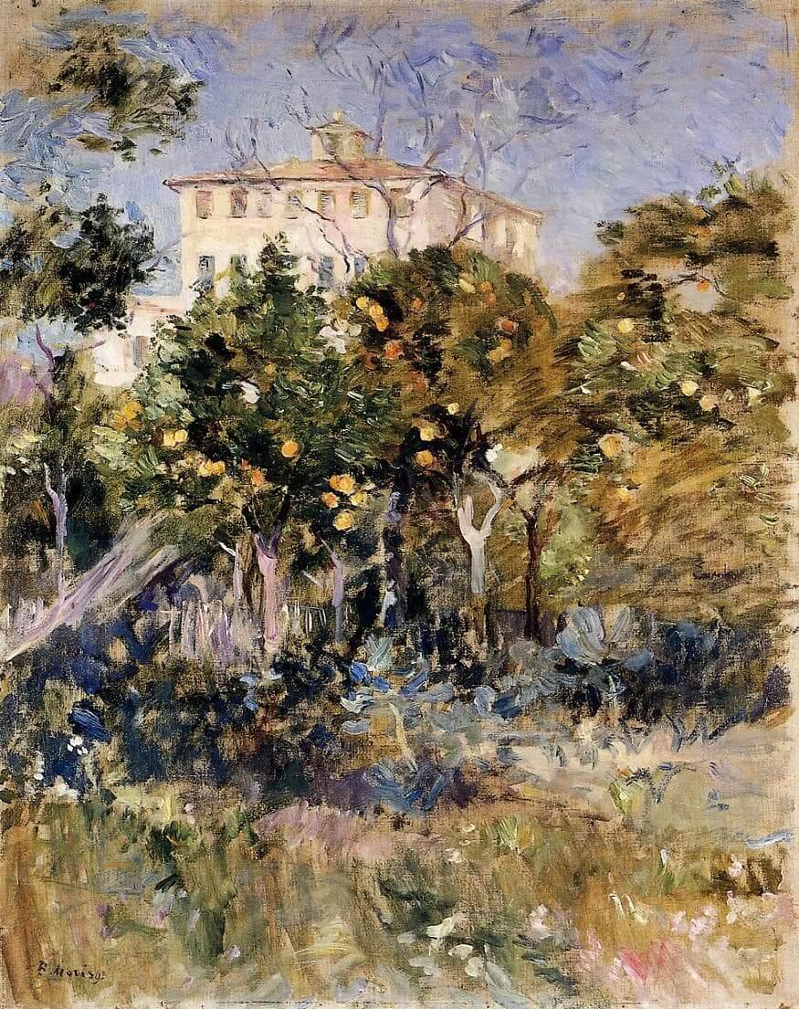 """""""Villa med apelsinträd, Nice"""" av Berthe Morisot"""